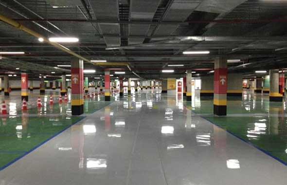 Piso Epoxi Estacionamento Shopping JK